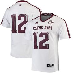 Texas A&M Aggies adidas Premier Football Jersey - White