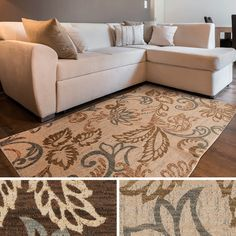 Keep your hardwood scratch free with this beautifully crafted Doraville floral area rug. This elegant floor covering will add style and charm to any room.