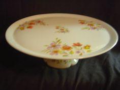 Limoges Floral Pedestal Cake/Pie Plate | eBay