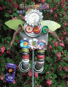 Garden Junk Art Angel Pinterest.com