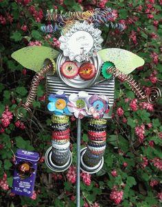 Garden Junk Art Angel