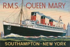 "GB Buque Correo RMS (Royal Mail Ship) ""Queen Mary I"" 1936, de Cunard Line"