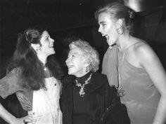 Gilda Radner, Mary Hemingway and Margaux Hemingway at Studio 54