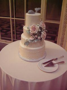 Whale, roses, and lace wedding cake wedding cake, birthday cake, custom cake, baby shower cake