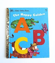 Vintage Little Golden Book  ABC's  Alphabet  Back by SunshineBooks