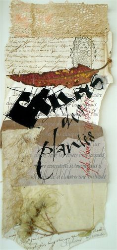 Stéphanie Devaux, Textus: décembre 2012 the convergence of texture here is lovely Mixed Media Collage, Collage Art, Collage Ideas, Mix Media, Collages, Typographie Inspiration, Writing Art, Letter Art, Letters