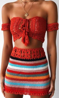 42 Free Boho Summer Top Crochet Patterns 2019 - Page 36 of 42 - womenselegance. com 42 Free Boho Summer Top Crochet Patterns 2019 - Page 36 of 42 - womenselegance. Crochet Summer Tops, Crochet Crop Top, Crochet Tops, Crochet Top Outfit, Crochet Outfits, Crochet Skirt Pattern, Crochet Patterns Free Tops, Free Pattern, Crochet Skirts