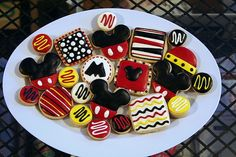 Mickey Mouse cookies with fun Mickey colors