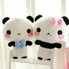 Peluches pandas parejas