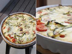 zacisze kuchenne: Tarta z cukinią, pomidorami i fetą