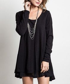 Another great find on #zulily! Black Flared Sweater by Elegant Apparel #zulilyfinds