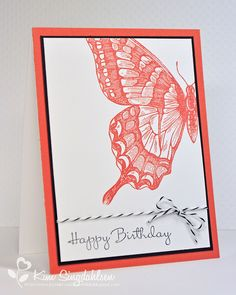 Happy Bday Butterfly.  Stamps by Stampin' Up.  From Joyful Creations with Kim.