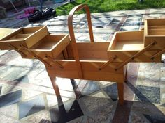 Lovely Norwegian woodwork. Perfect for knitting projects!