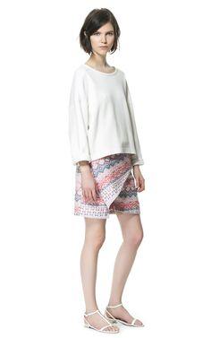 JACQUARD SARONG SKIRT from Zara