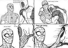 Deadpool X Spiderman, Batman, Spideypool Comic, Teenage Warhead, Venom Comics, Sad Art, Haikyuu Fanart, Marvel Funny, Spidey Pool