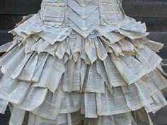 A dress made from a thesaurus.