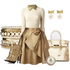 Gold Collar, created by hope-houston on Polyvore