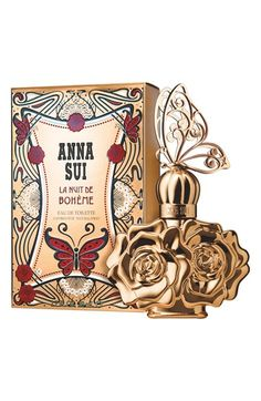 Anna Sui 'La Nuit de Bohème Eau de Toilette conveys a power that nothing else has. One of elegance and sophistication. Luxury and femininity. There is an air of mystery about it, a seductive allure that captures the heart and stirs the senses. Welcoming the night with open arms, she dances into it, aware of her flirty, girly charm. The fragrance opens with the fizz of champagne citrus and midnight blackberry, ...