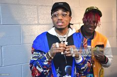 Quavo and Lil Yachty attend the Migos In Concert at Center Stage on January 2017 in Atlanta, Georgia. Lil Yachty, Lil Baby, Baby Daddy, Boy Celebrities, Celebs, Migos Quavo, Man Crush Everyday, Hip Hop Artists, My Boo