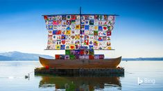 To mark International Day of Peace, we invite you to look closely at the colorful sail in today's homepage photo. It's a composite of 1...