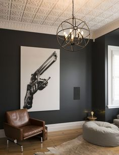 Wall Color U0026 Ceiling // A Year Long Renovation Transformed This Traditional  Mt Eden, Auckland Villa Into A Contemporary And Luxurious Bachelor Pad