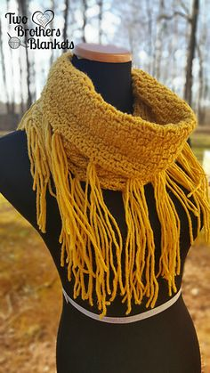 The Georgia Scarf is a simple, yet stunning looking scarf! Dressed up or down, this scarf will work with just about any outfit AND keep you warm! Plus, fringe! Enough said!