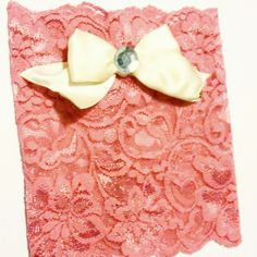 Pink lace boot cuffs with classy bow.  I wear these ones when I'm feeling girly!  ❤   Www.etsy.com/shop/MostBeautifulDesigns