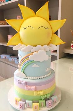 10 Dragon Sweets For Everyone Missing Game Of Thrones — Cake Wrecks Sunshine Birthday Cakes, Sunshine Cake, Baby Birthday Cakes, Sunshine Cupcakes, Cake Wrecks, Baby Shower Pasta, Baby Shower Cakes, Cloud Cake, Sunshine Baby Showers