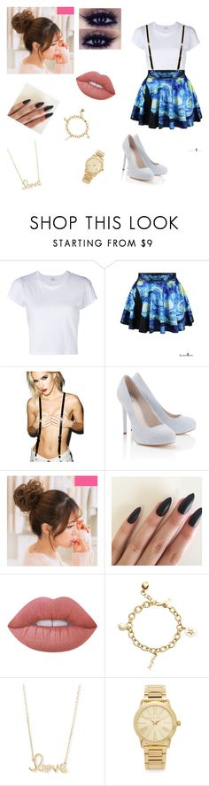 """""""#Walker20"""" by magconfocuss ❤ liked on Polyvore featuring RE/DONE, JAKIMAC, Lipsy, Lime Crime, Kate Spade, Sydney Evan and Michael Kors"""