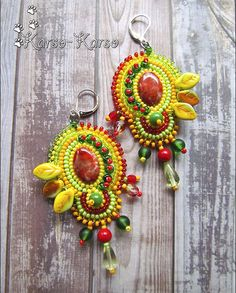 Beautiful embroidered earrings | Beads Magic