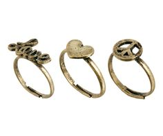 Classics77 Love and Peace Multipack Ring.  Available at www.asos.com