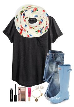 """~can someone please buy me this outfit!!~"" by simply-natalee ❤ liked on Polyvore featuring H&M, Kate Spade, Hunter, Alex and Ani, Bobbi Brown Cosmetics and Too Faced Cosmetics"