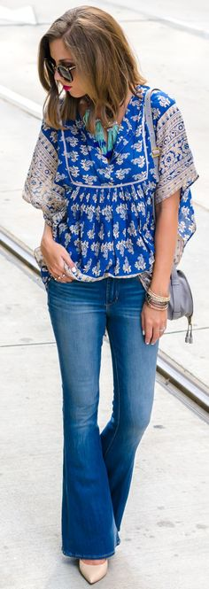 Boho Top And Flares