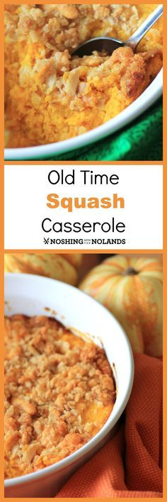 MWM - Old Time Squash Casserole by Noshing With The Nolands - This savory dish is the perfect addition to your Thanksgiving meal. People will be wanting seconds!