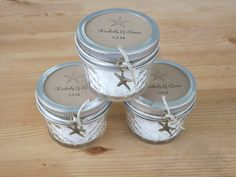 Beach Wedding Favors Mason Jar Favors ~ Sea Salt Scrub