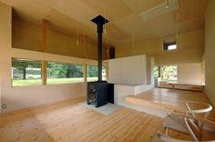 Dom z trawnikiem pośrodku, Tokorozawa, Japonia, proj. Studio Archi Farm