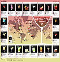 カクテルでめぐる世界一周の旅 トリップアドバイザーのインフォグラフィックスで世界の旅が見える