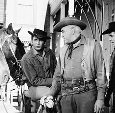 """BONANZA -- """"Cutthroat Junction"""" Episode 26 -- Pictured: Michael Landon as Joseph 'Little Joe' Cartwright, Lorne Greene as Ben Cartwright, Pernell Roberts as Adam Cartwright -- Photo by: NBC/NBCU. Get premium, high resolution news photos at Getty Images Movies Showing, Movies And Tv Shows, Lorne Greene, Bonanza Tv Show, Teenage Werewolf, Pernell Roberts, Michael Landon, Tv Westerns, 10 Picture"""