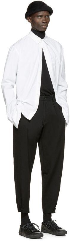 Yohji Yamamoto Pantalon noir en laine