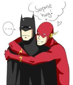 Batman & Flash Gordon hug. #batman #flashgordon #dccomics #comics