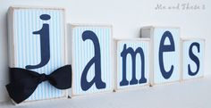 Wood letter name blocks  Price is per block  Custom by meandthese3