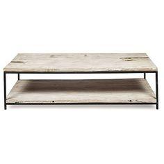 Byron Rectangular Coffee Table with Metal Legs