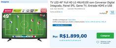 """TV LED 49"""" Full HD LG 49LH5100 com Conversor Digital Integrado Painel IPS Game TV Entrada HDMI e USB << R$ 189900 em 9 vezes >>"""
