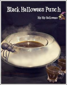 Black Halloween Punch Recipe - Tutorial on serving it over dry ice!