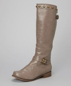 Taupe Lambert Boot by I Heart Footwear - would love a taupe boot #zulilyfinds