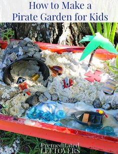 How to Create a Pirate Grotto Garden for Kids - Instead of creating a fairy garden, why not create a pirate grotto garden for your children.
