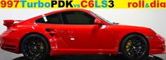 Porsche 997 Turbo PDK vs C6 LS3 #Corvette #Stingray #auction #Chevrolet #Convertible #cars #classiccars #Chevy