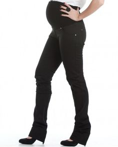 #PantalonPremama Moda Tubo Sarga strech con 5 bolsillos, slim con pieza doble delante y detrás de punto elastán regulable.