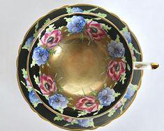 Stunning Poppies Paragon China Tea Cup & Saucer