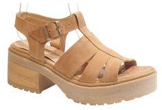 sandalias de cuero con plataforma .. primavera / verano 2015